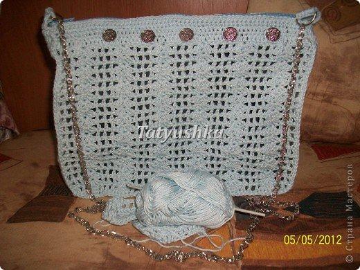 Летняя вязаная сумочка фото 2