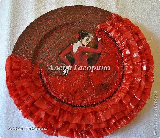 "Мастер-класс тарелки ""Танцовщица Фламенко"". фото 25"