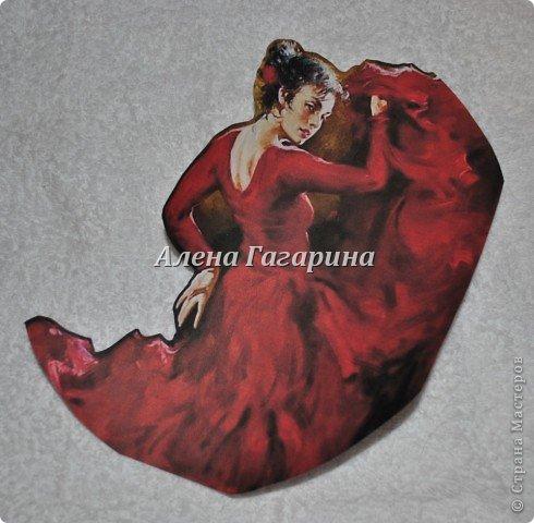 "Мастер-класс тарелки ""Танцовщица Фламенко"". фото 4"