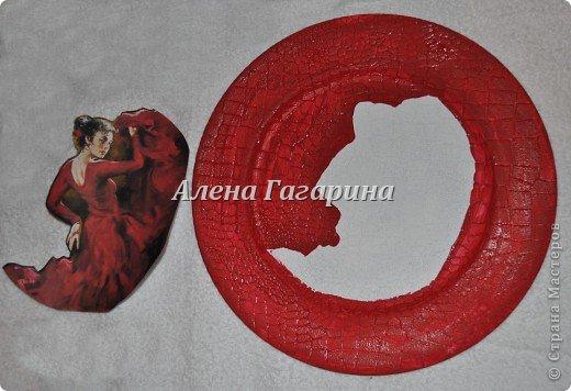 "Мастер-класс тарелки ""Танцовщица Фламенко"". фото 5"