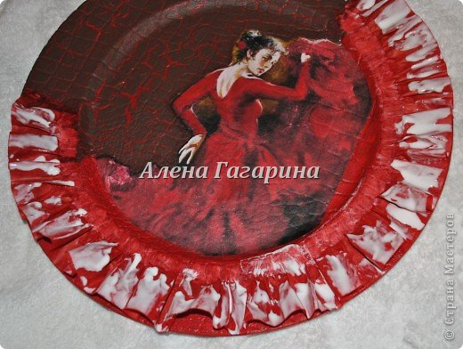 "Мастер-класс тарелки ""Танцовщица Фламенко"". фото 14"