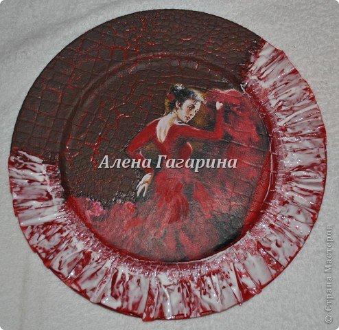 "Мастер-класс тарелки ""Танцовщица Фламенко"". фото 16"