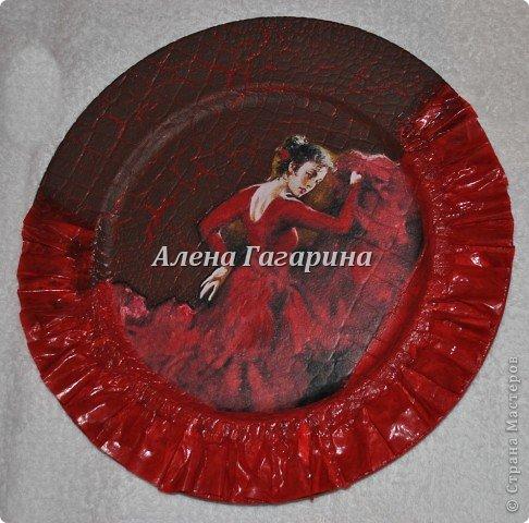 "Мастер-класс тарелки ""Танцовщица Фламенко"". фото 17"