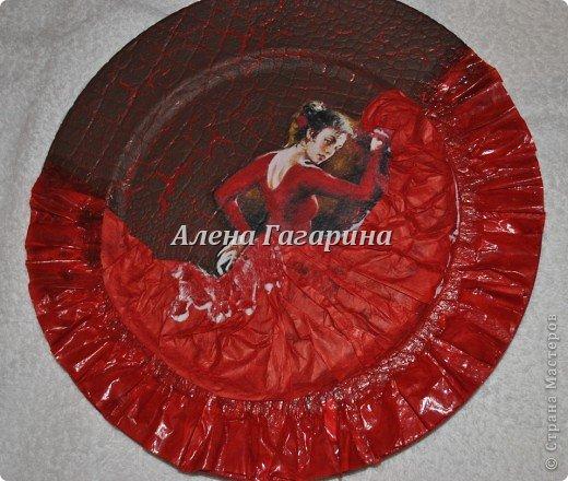 "Мастер-класс тарелки ""Танцовщица Фламенко"". фото 19"