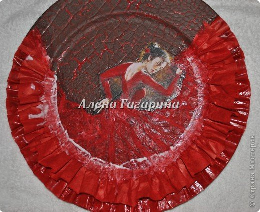 "Мастер-класс тарелки ""Танцовщица Фламенко"". фото 21"