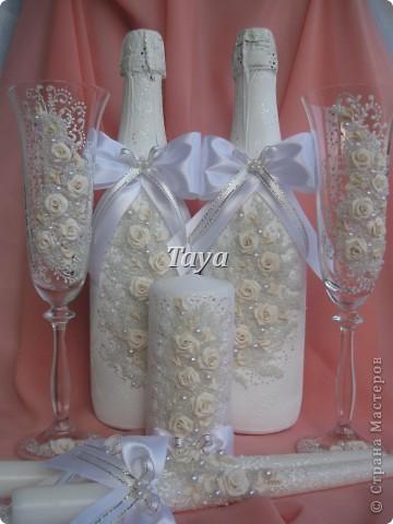 Декор предметов свадьба лепка