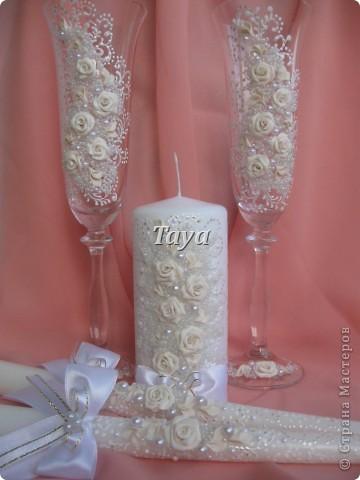 Свадебные наборы в цвете шампань. фото 4