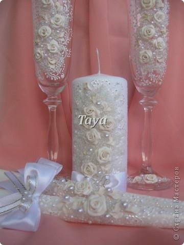 Свадебные наборы в цвете шампань. фото 5