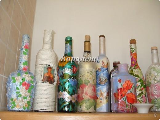 Бутылочки в интерьере фото 4