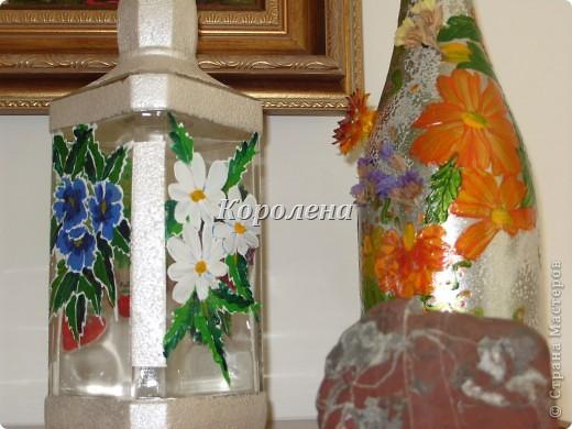 Бутылочки в интерьере фото 1