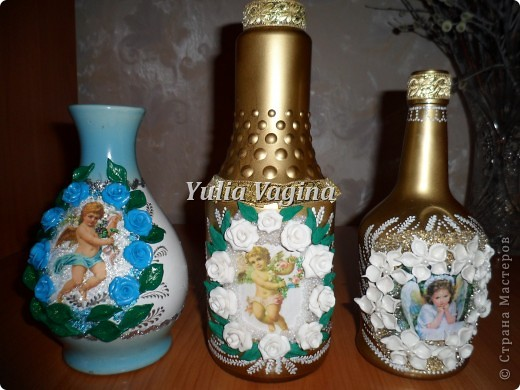 Привет, Страна!  Получила первый заказ салона ритуальных услуг. Необычный заказ, попросили сделать вазы для цветов на могилки. Первую вазу делала с каким-то непонятным чувством тоски, но потом стало легче, и отнеслась к работе как к обычному заказу... фото 1