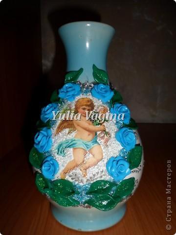 Привет, Страна!  Получила первый заказ салона ритуальных услуг. Необычный заказ, попросили сделать вазы для цветов на могилки. Первую вазу делала с каким-то непонятным чувством тоски, но потом стало легче, и отнеслась к работе как к обычному заказу... фото 2