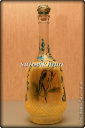 Привет всем!!! Наконец, я доделала бутылочку до конца!!! Этот МК выкладывала давно, теперь приходится обновлять))))) фото 9