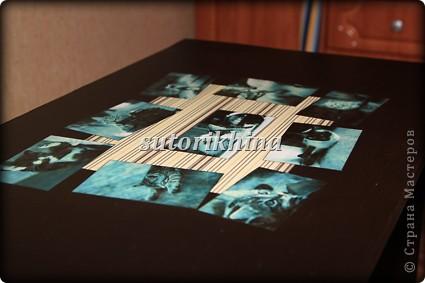 """В данном МК хочу рассказать, каким образом я превратила  надоевший мне журнальный столик, в любимый стол для ноутбука)))) К сожалению не могу предоставить фото """"ДО""""))). И так, у меня был столик непонятно-рыжего цвета, который я решила перевести в разряд стильных. И как всегда работала я поздними вечерами.  фото 3"""
