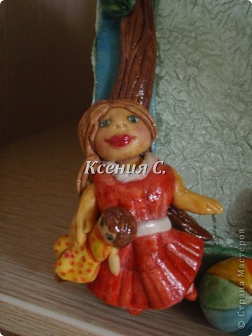 Рамочку лепила по МК Ларисы Ивановой http://stranamasterov.ru/node/86437 для дочери моей подруги.  фото 2