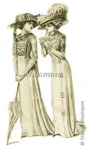 """про то, что дочь у меня """"болеет"""" стилем """"модерн"""" (начало 20го века), я вам уже говорила и одно платье уже показывала. Вот теперь обещенное другое плтье фото 6"""
