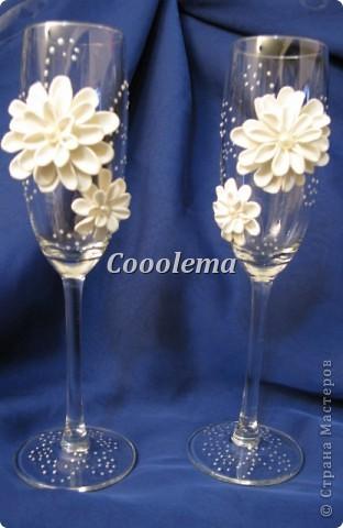 Привет всем! Попробовала бокалы с хризантемой фото 1