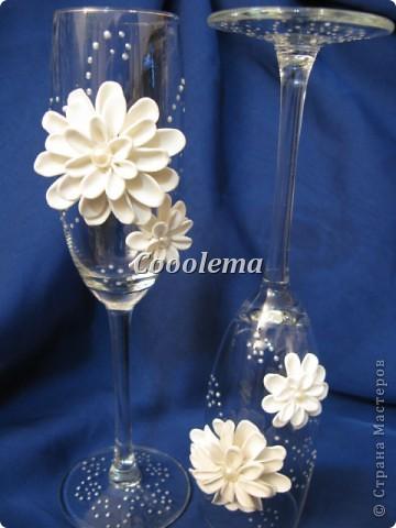 Привет всем! Попробовала бокалы с хризантемой фото 2