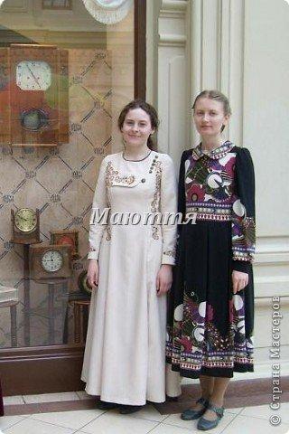 """про то, что дочь у меня """"болеет"""" стилем """"модерн"""" (начало 20го века), я вам уже говорила и одно платье уже показывала. Вот теперь обещенное другое плтье фото 7"""