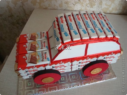 Торт из конфет своими руками мастер класс видео