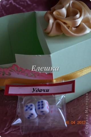 Вот такой радостный и разноцветный тортик родился у меня для подарка на ДР... Бывшая одноклассница  попросила, что-то не ординарное. Я излазила интернет и наткнулась вот на это творение http://vk.com/feed?section=photos&z=photo-38236220_282647777%2Ffeed1_29105029_1336846100 . ВДОХНОВИЛАСЬ, переработала идею и сотворила) 12 кусочков - 12 пожеланий... фото 13
