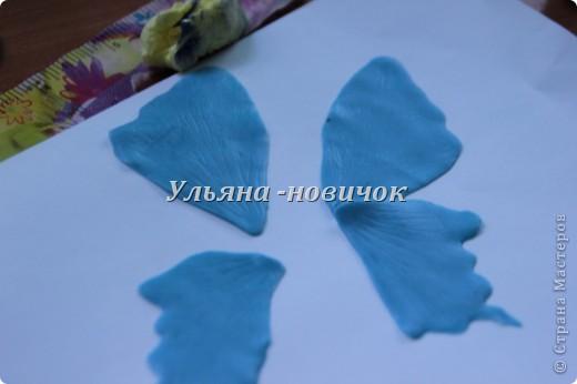 Ну девочки, как и просили, выкладываю МК, как я делаю бабочек))) Я в стране с этой идеей не первенец, первую бабочку я увидела из соленого теста  у Решетниковой Екатерины ( http://stranamasterov.ru/node/168707) (  и чудесную брошку от Марины V (http://stranamasterov.ru/node/351587?c=favorite). Вот, выкладываю вам свою версию))) И так, приступим))) фото 5