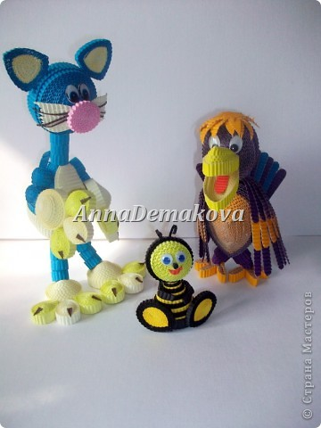 Вот ещё одна компания игрушек у меня появилась. Решила в этот раз попробовать сделать большие игрушки. Вроде получилось. И даже на ногах очень твердо стоят, не заваливаются назад.  фото 10