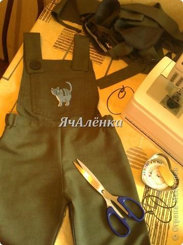 Вот такие штанишки получились из папиных брюк. фото 1