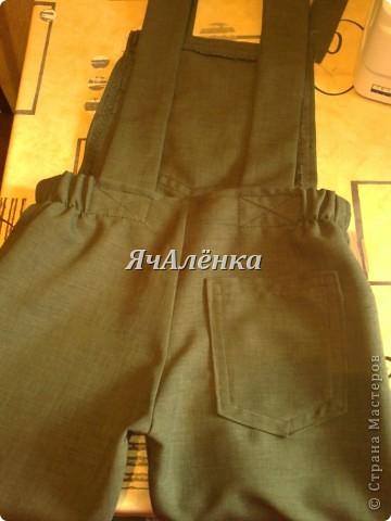 Вот такие штанишки получились из папиных брюк. фото 6