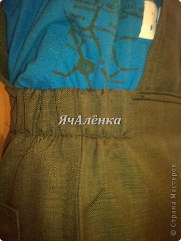 Вот такие штанишки получились из папиных брюк. фото 7