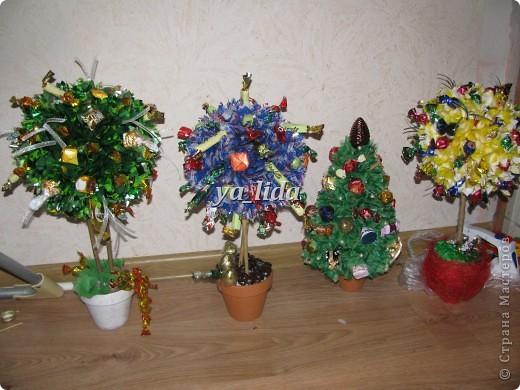 Мои первые деревья, делала в подарок воспитателям в детский сад на Новый год. фото 1