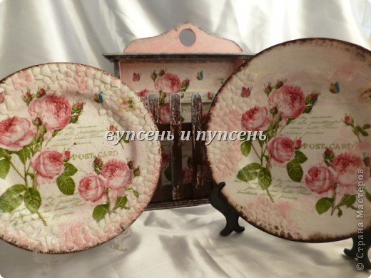 Наборчик: Ключница и декоративные тарелки фото 1