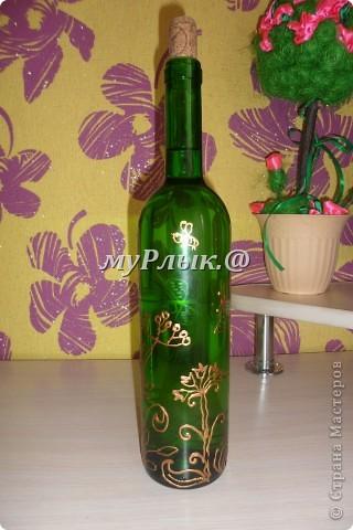 Вот такие получились у меня бутылочки.Я их приспособила для масла..... фото 2