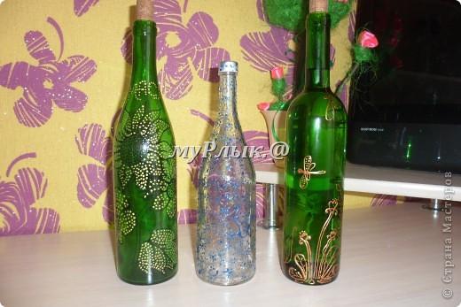 Вот такие получились у меня бутылочки.Я их приспособила для масла..... фото 1