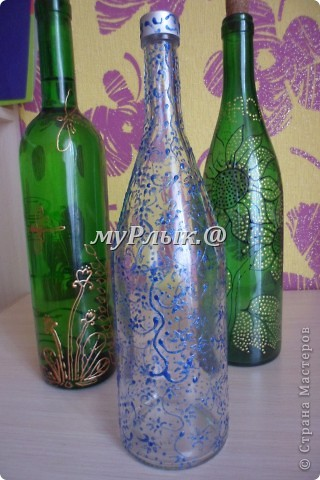 Вот такие получились у меня бутылочки.Я их приспособила для масла..... фото 3