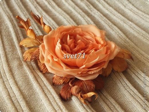 Староанглийская роза(шелк) фото 1