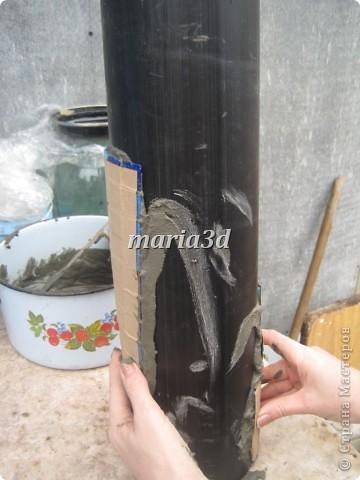 Долго вынашивала идею создания вазона для цветов, прорабатывала в голове детали, искала необходимые материалы, собиралась с духом, как сказать. И вот итог: фото 5