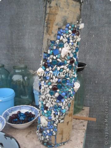 Долго вынашивала идею создания вазона для цветов, прорабатывала в голове детали, искала необходимые материалы, собиралась с духом, как сказать. И вот итог: фото 9