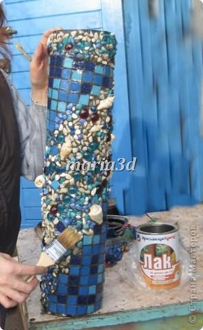 Долго вынашивала идею создания вазона для цветов, прорабатывала в голове детали, искала необходимые материалы, собиралась с духом, как сказать. И вот итог: фото 11