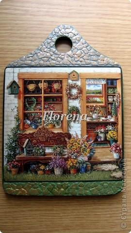 Сотворились у меня вот такие досочки для украшения кухни. Люблю творчество Джанет Крускамп. Слева досочка с распечаткой,справа-с декупажной картой,на ней оттенки теплее. фото 5