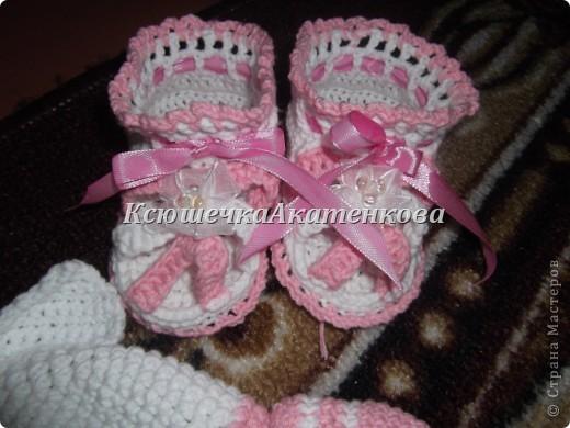 Крмплектик для малышки панамка и сандалики фото 2