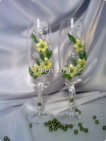 Давно мечтала сделать бокалы по работам Саровочки http://stranamasterov.ru/node/321306?c=favorite. Эти бокалы были эталоном. фото 1