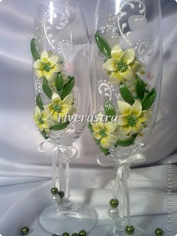Давно мечтала сделать бокалы по работам Саровочки http://stranamasterov.ru/node/321306?c=favorite. Эти бокалы были эталоном. фото 2