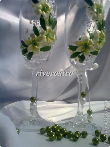 Давно мечтала сделать бокалы по работам Саровочки http://stranamasterov.ru/node/321306?c=favorite. Эти бокалы были эталоном. фото 3