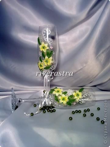 Давно мечтала сделать бокалы по работам Саровочки http://stranamasterov.ru/node/321306?c=favorite. Эти бокалы были эталоном. фото 4