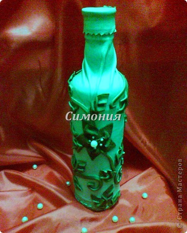 """Бутылка """"Лоза"""" Кожа и замша. фото 3"""