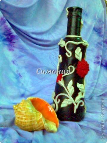 """Бутылка """"Лоза"""" Кожа и замша. фото 4"""