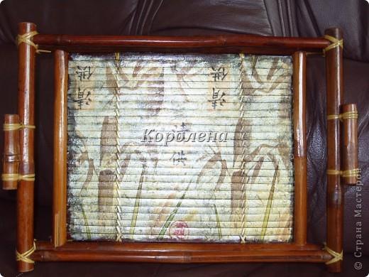 Бамбуковый поднос фото 1