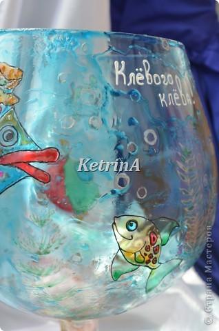 В подарок заядлому рыбаку был выполнен следующий презент....  Рыбка в шляпке фото 4