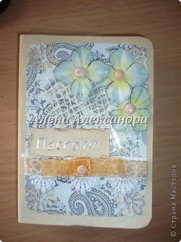 Мои первые обложки на паспорт и открыточка фото 2